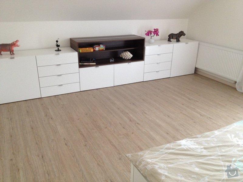 Broušení betonu, vyrovnání podlah samonivelační stěrkou, položení vinylové plovoucí podlahy: IMG_2015