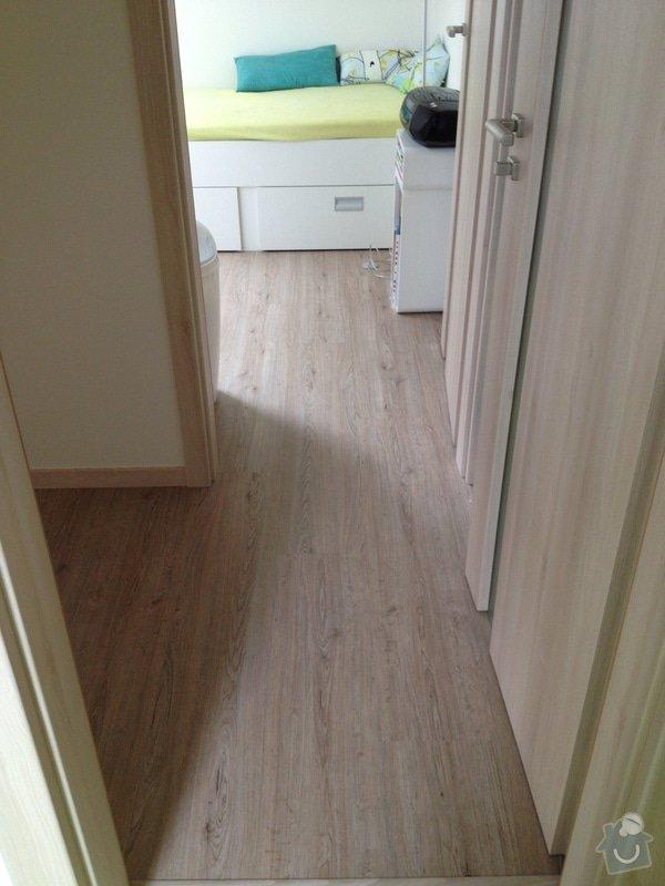 Broušení betonu, vyrovnání podlah samonivelační stěrkou, položení vinylové plovoucí podlahy: IMG_2021