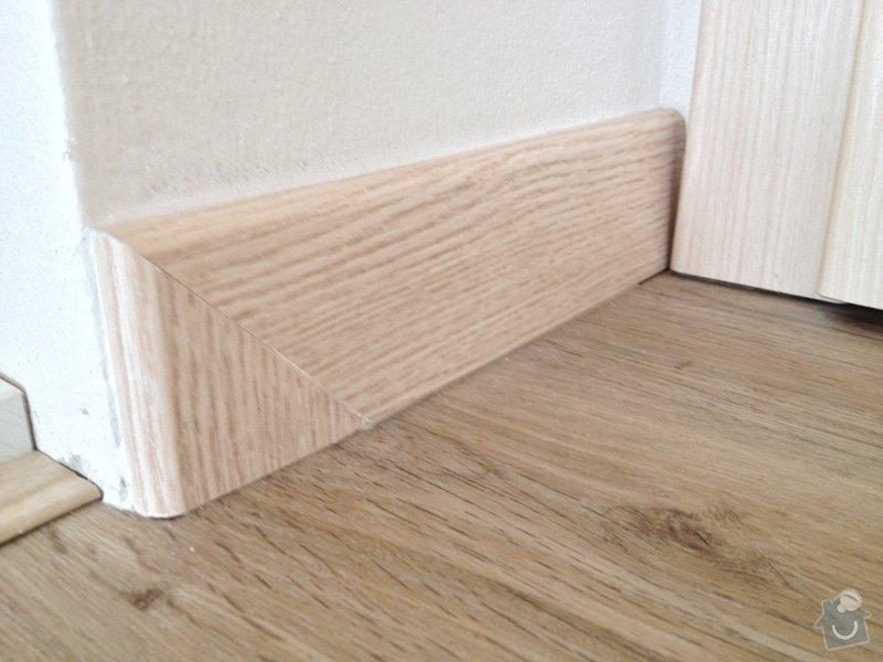 Broušení betonu, vyrovnání podlah samonivelační stěrkou, položení vinylové plovoucí podlahy: IMG_2042