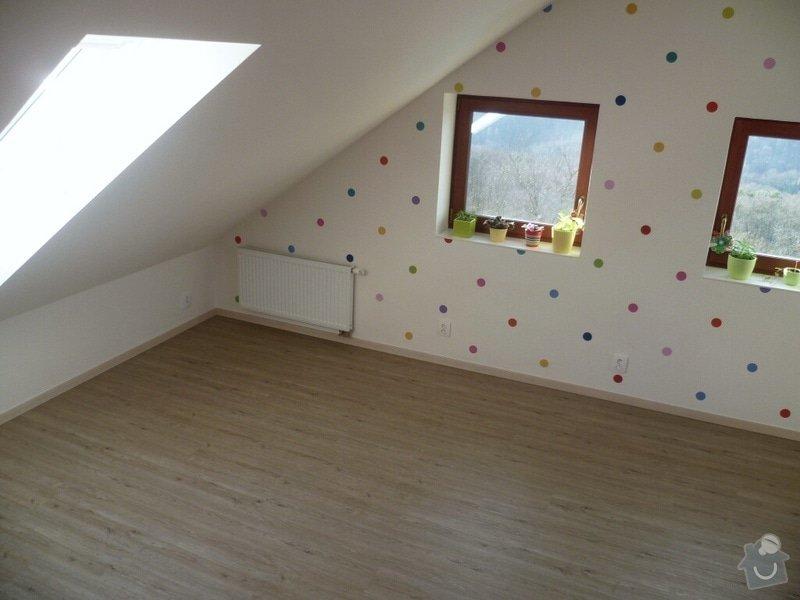 Broušení betonu, vyrovnání podlah samonivelační stěrkou, položení vinylové plovoucí podlahy: IMG_2044
