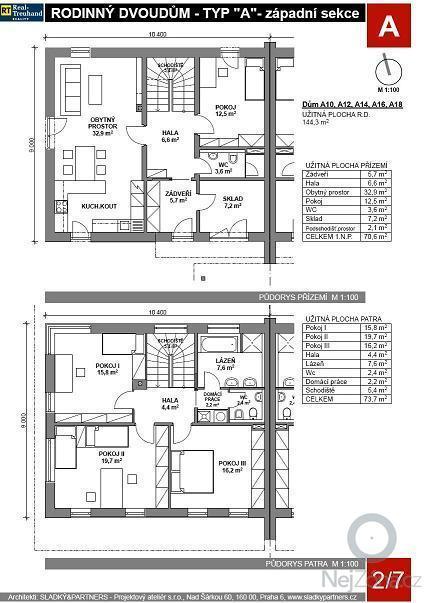 Stavbu rodinného domu 1/2 dvojdomku: RD_levy