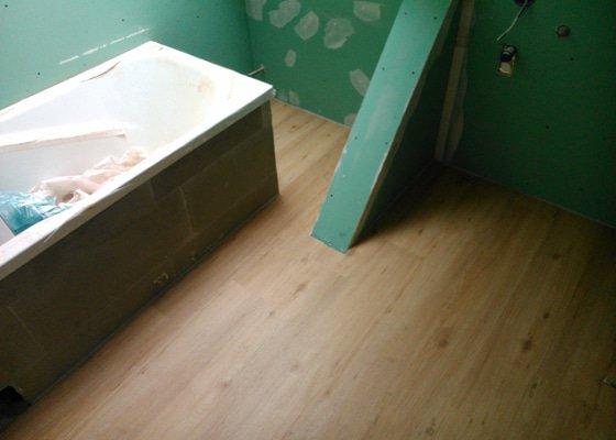 Rekonstrukce bytu, vinylová podlaha - Kuřim