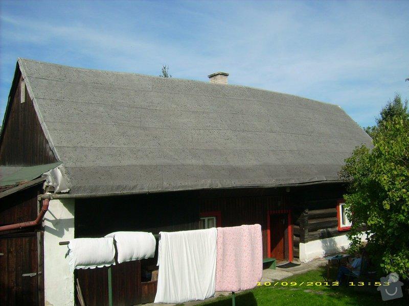 Nástřik nepochůzí sedlové asfaltové střechy : Janovice-strecha_1