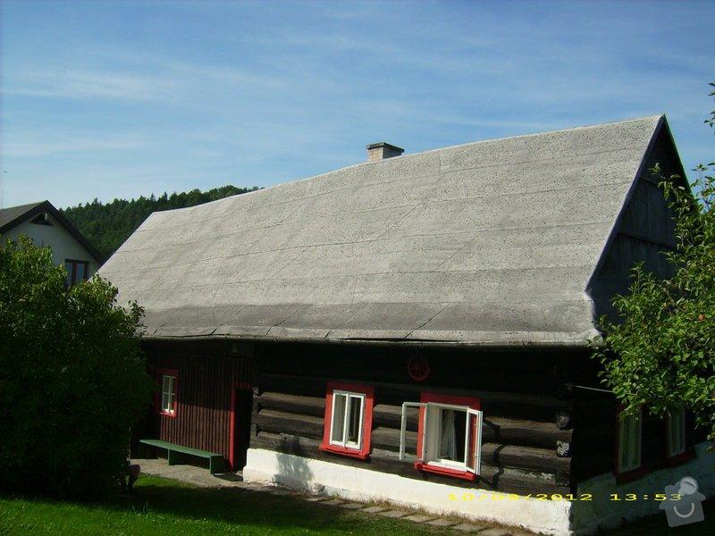 Nástřik nepochůzí sedlové asfaltové střechy : Janovice-strecha_2