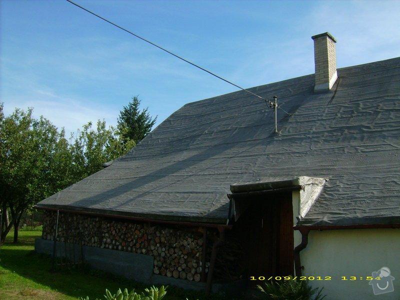 Nástřik nepochůzí sedlové asfaltové střechy : Janovice-strecha_3