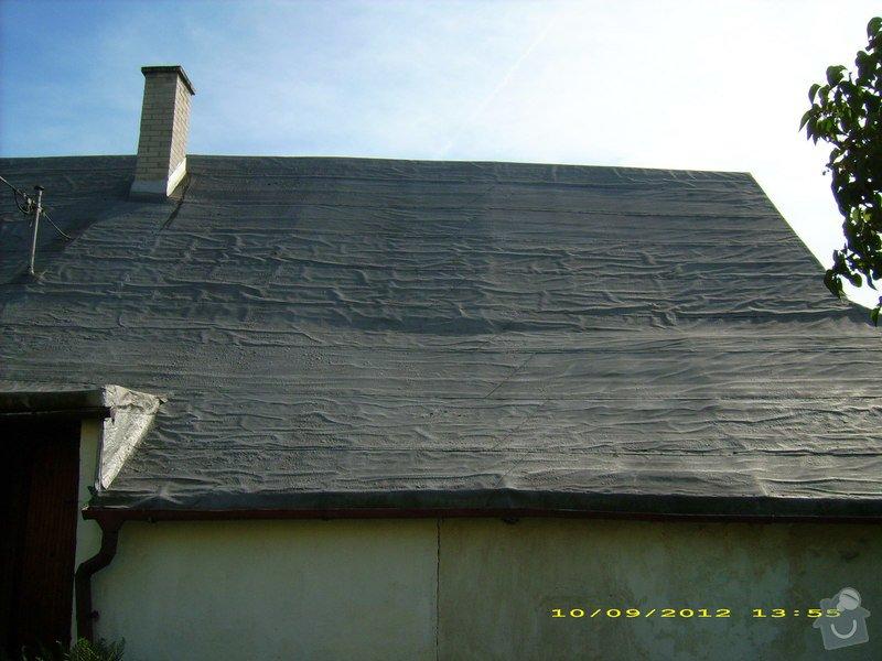 Nástřik nepochůzí sedlové asfaltové střechy : Janovice-strecha_4
