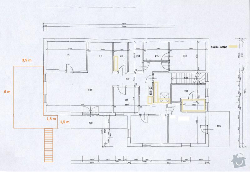 Stavba dřevěné terasy: planek_terasa