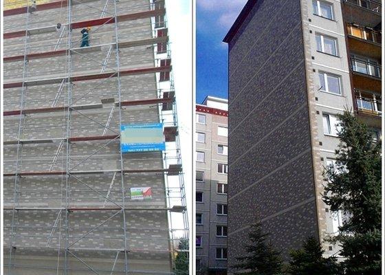 Zateplení štítu panelového domu