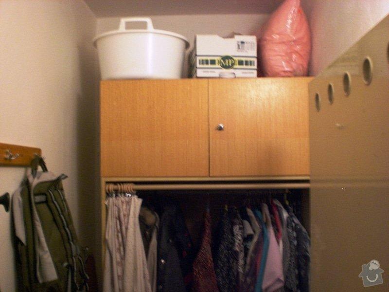 Vestavěná skřín, panelák: skrin