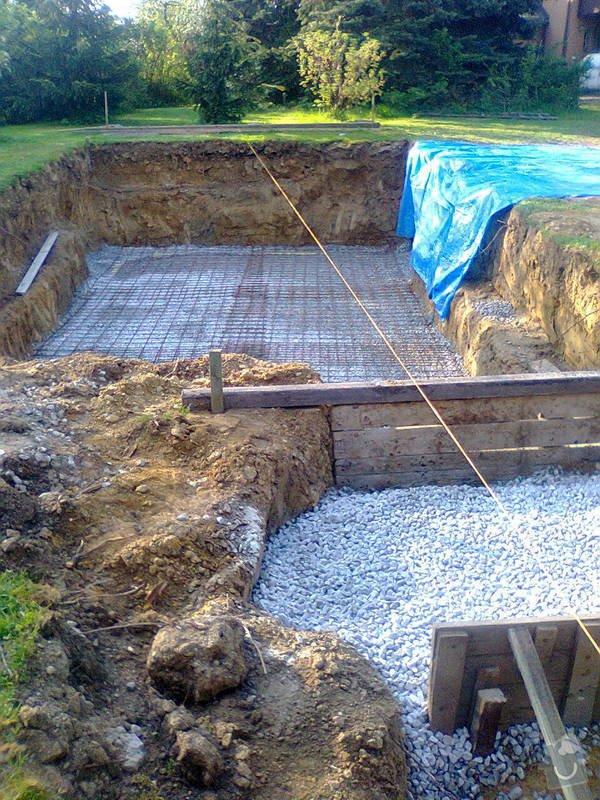 Zhotovení betonové desky pod bazén: Fotografie0047