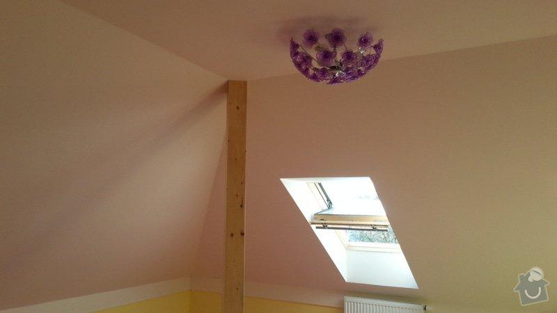 Dekorace podkrovního dětského pokoje letní oblohou - inspirace: 20140501_092412