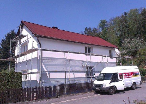 Zhotovení nové fasády + Zhotovení vyrovnávající stěrky, nové fasády