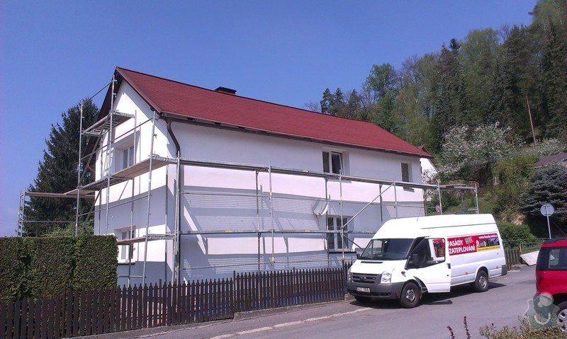 Zhotovení nové fasády + Zhotovení vyrovnávající stěrky, nové fasády: IMAG0656