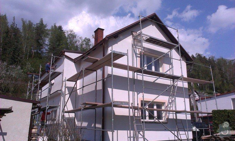 Zhotovení nové fasády + Zhotovení vyrovnávající stěrky, nové fasády: IMAG0657
