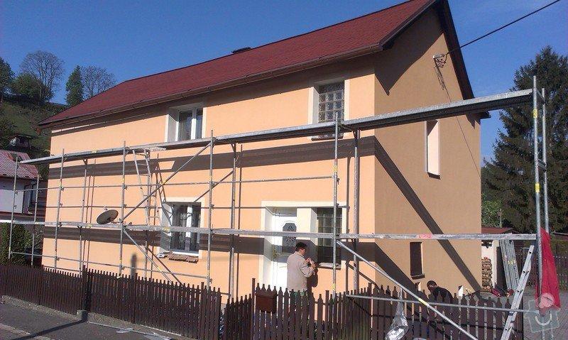 Zhotovení nové fasády + Zhotovení vyrovnávající stěrky, nové fasády: IMAG0670