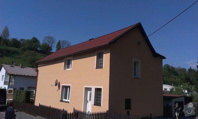 Zhotovení nové fasády + Zhotovení vyrovnávající stěrky, nové fasády: IMAG0671