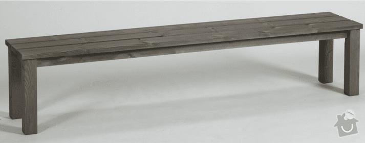 Zahradni stul s lavici z masivu: lavice_01