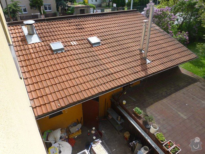 Oprava střechy u přístavby domu: P1180263