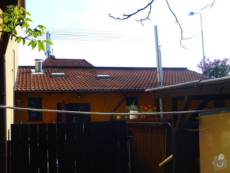 Oprava střechy u přístavby domu: P1180305