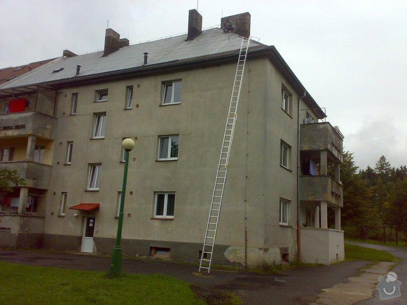 Oprava hliníkové střechy - bytový dům v Bořinách: 18092013117