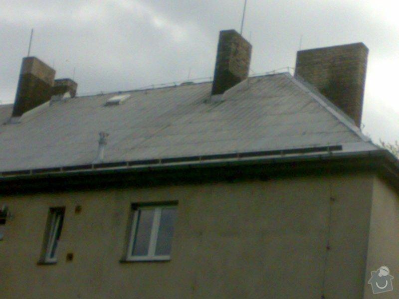 Oprava hliníkové střechy - bytový dům v Bořinách: 05052014219