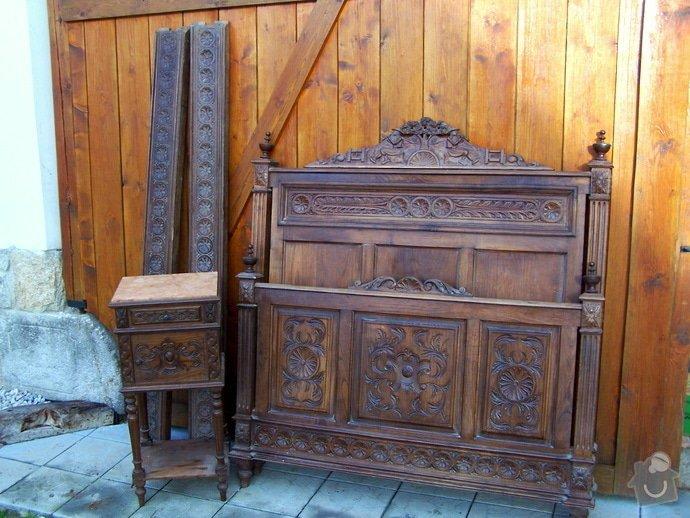 Renovace starozitne postele, skrine: 200_8907