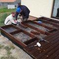 Pokladka drevenne terasy terasa 4