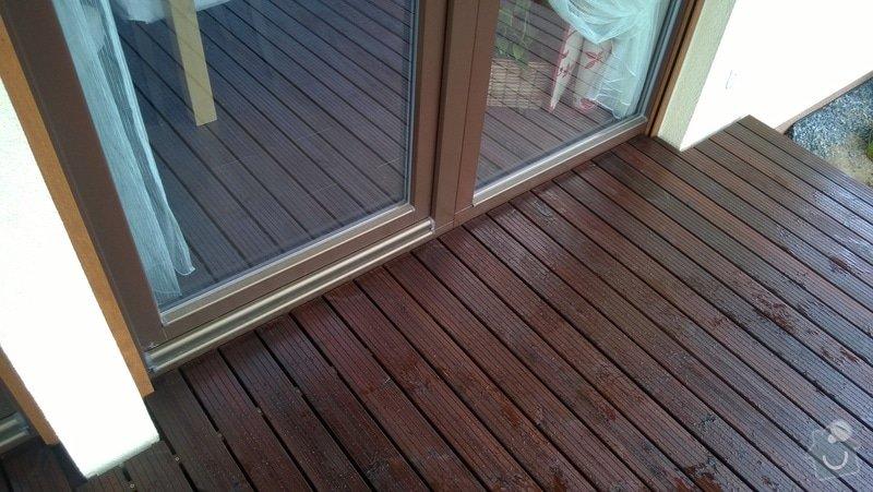 Pokládka dřevěnné terasy: WP_20140422_005