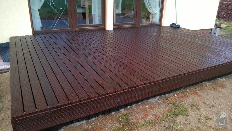 Pokládka dřevěnné terasy: WP_20140422_008