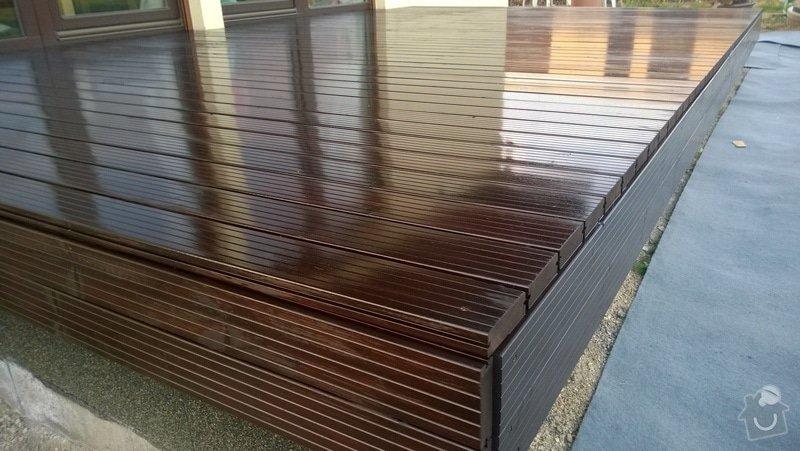 Pokládka dřevěnné terasy: WP_20140505_002