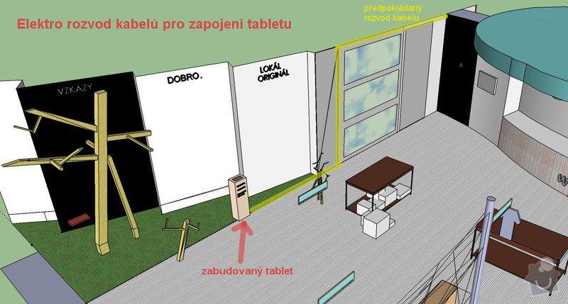 Rozvod kabelů pro osvětlení a PC: vizualizace_elektro