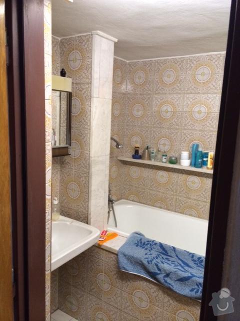 Celková rekonstrukce koupelny (stavební práce, vodoinstalace, elektroinstalace, zednické práce, obklady, podlaha): koupelna1