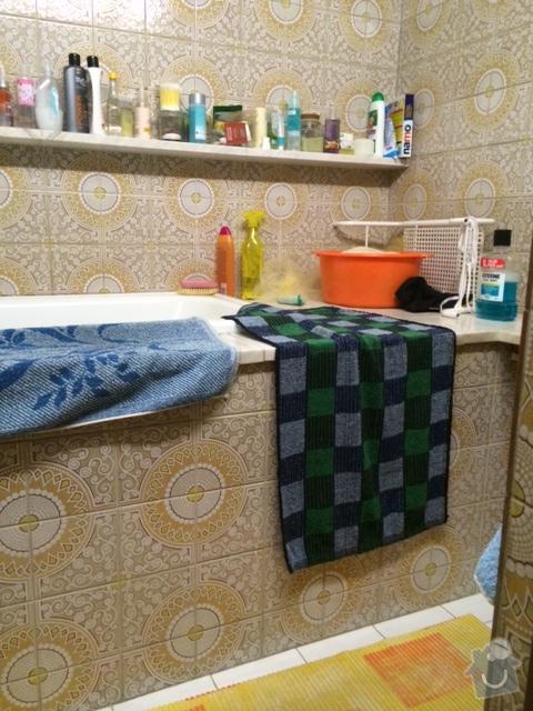Celková rekonstrukce koupelny (stavební práce, vodoinstalace, elektroinstalace, zednické práce, obklady, podlaha): koupelna2