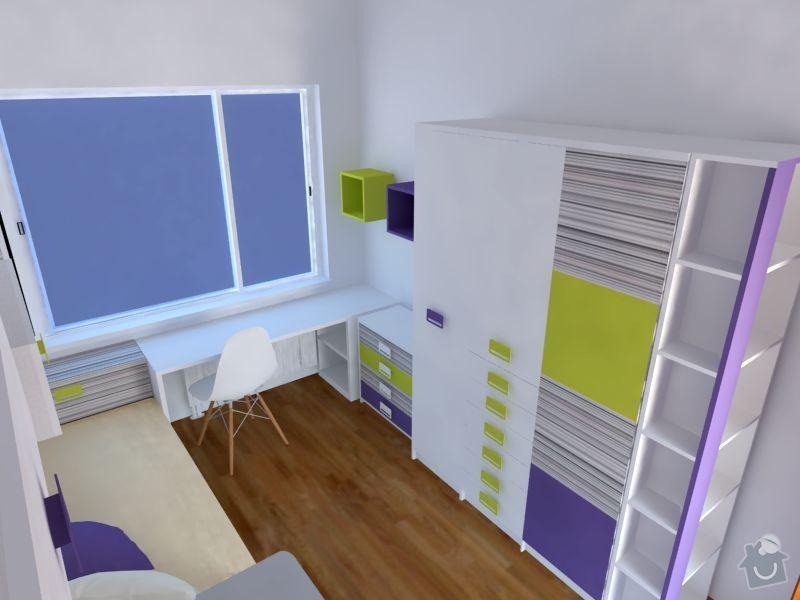 Měla bych zájem o výrobu nábytku do  dětského pokoje: 1