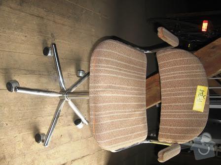 Čalounění křesílka a židle: zidle