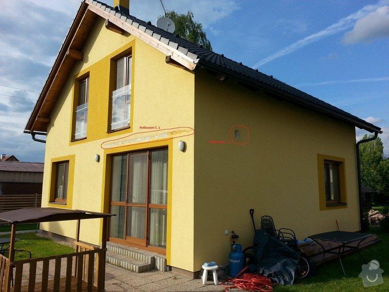 Nátěr fasády: domek1