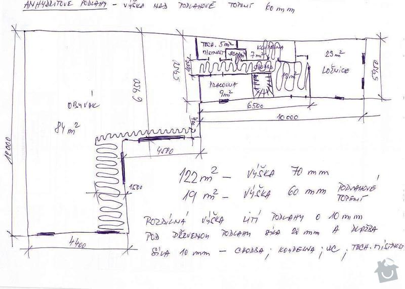 Anhydrit podlahy 140 m2 výška 60 - 70 mm: podlahy_prizemi