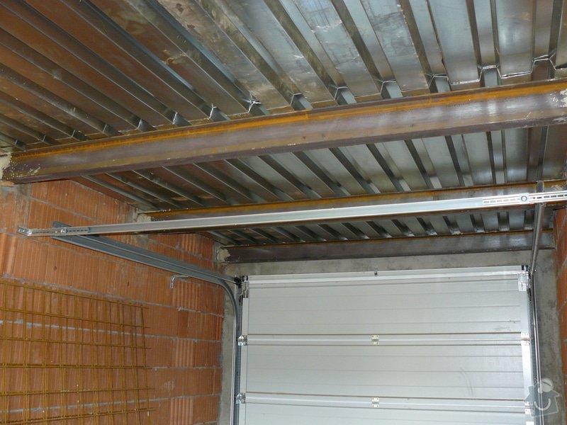 Dostavba hrubé stavby RD: 12_-_Strop_nad_garazi