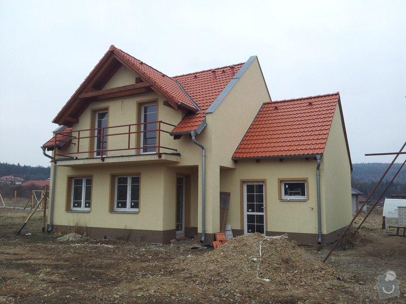 Dostavba hrubé stavby RD: 13_-_Zabradli_a_zemni_upravy