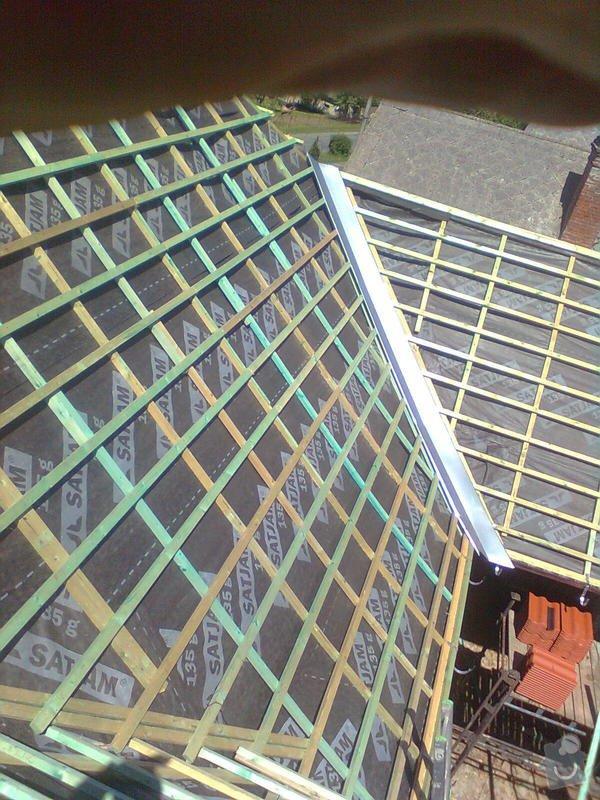 Rekonstrukce střechy - vazby, stavba komínů: Obraz0563