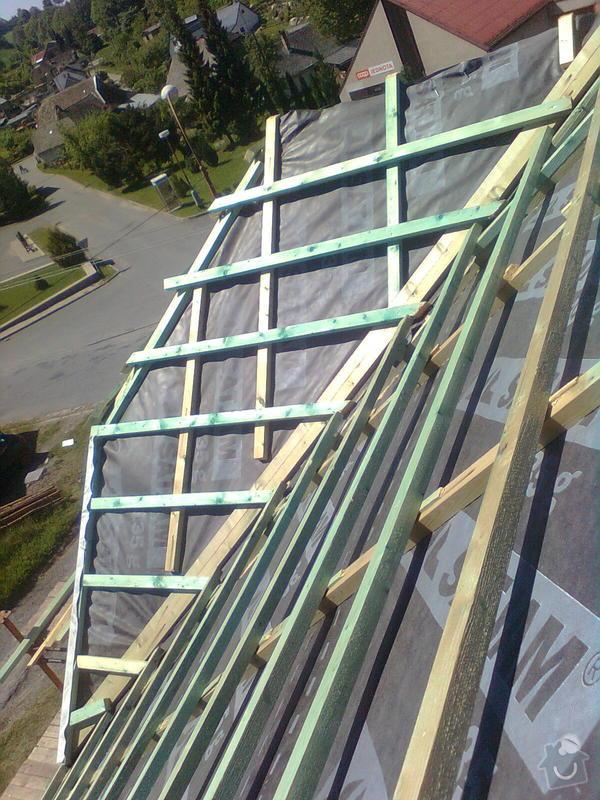 Rekonstrukce střechy - vazby, stavba komínů: Obraz0564