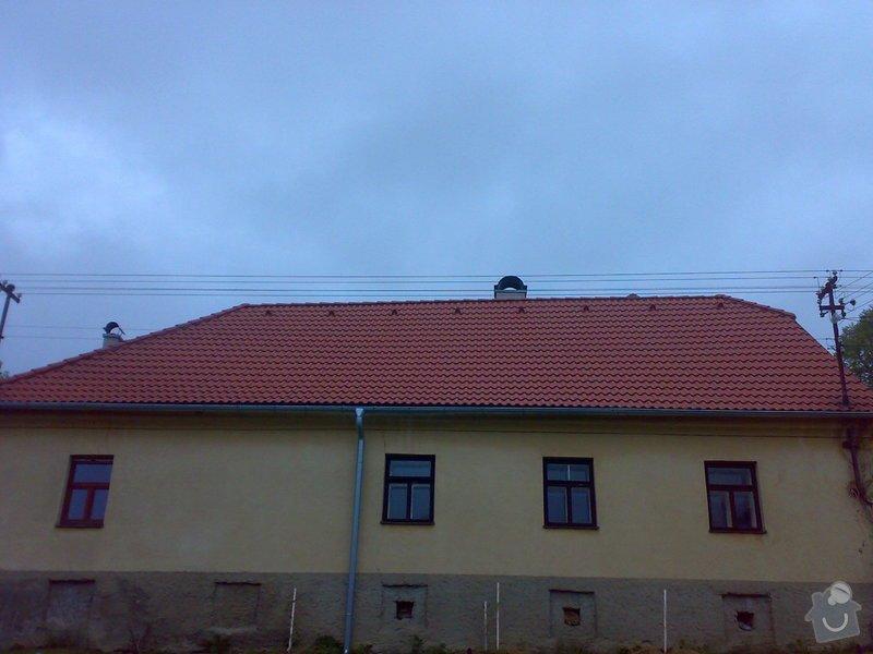 Rekonstrukce střechy - vazby, stavba komínů: 11052014226
