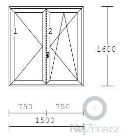 Plastová okna v panelovém bytě 3+1: OKNO1