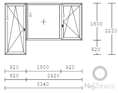 Plastová okna v panelovém bytě 3+1: OKNO2