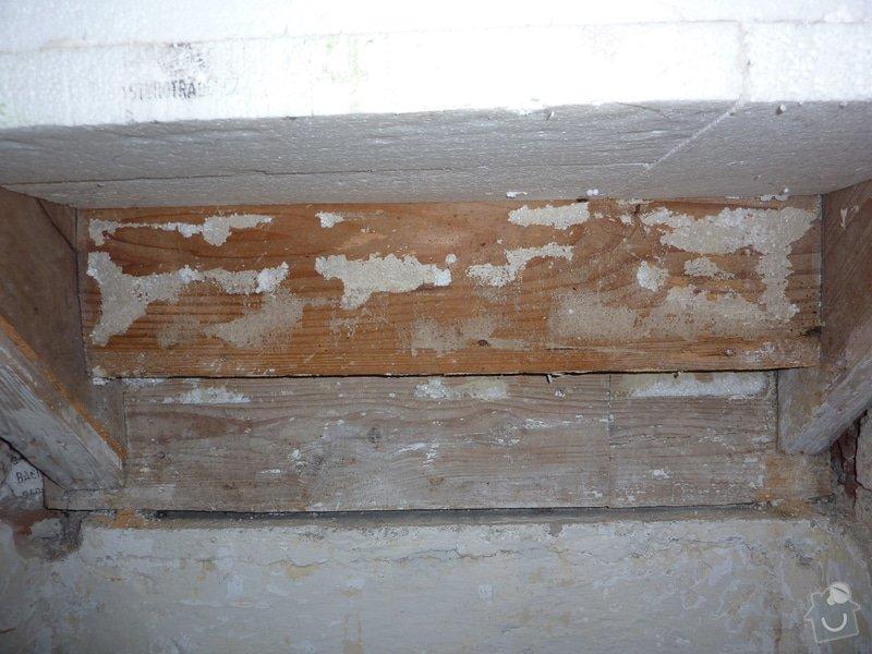 Posouzení a likvidace červotoče, schodiště RD: 4_Pohled_zespodu