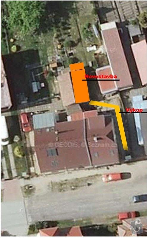 Ubourání stávajících kolen a výstavbu nebytových prostor: mapa