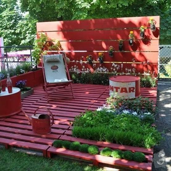 Výroba zahradního posezení z palet: 10177425_630440810371912_6572808761095986047_n