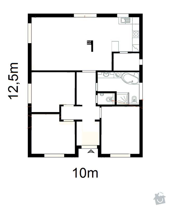 Podlahové vytápění na klíč: pudorys_domu