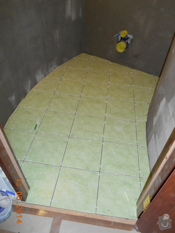Položení dlažby a obkladu - malé wc: foto_029