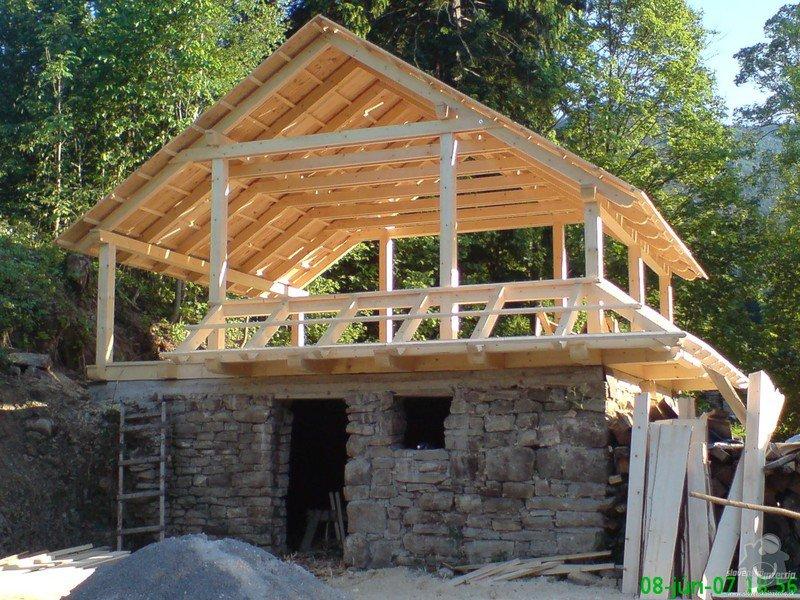 Dřevěnou konstrukci na zahradní chatu: 1516222-drevenice-drevodomy-krovy-altany-kamen--1